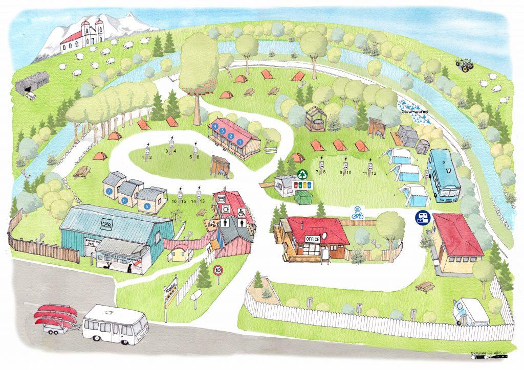 Raetihi Holiday Park Map