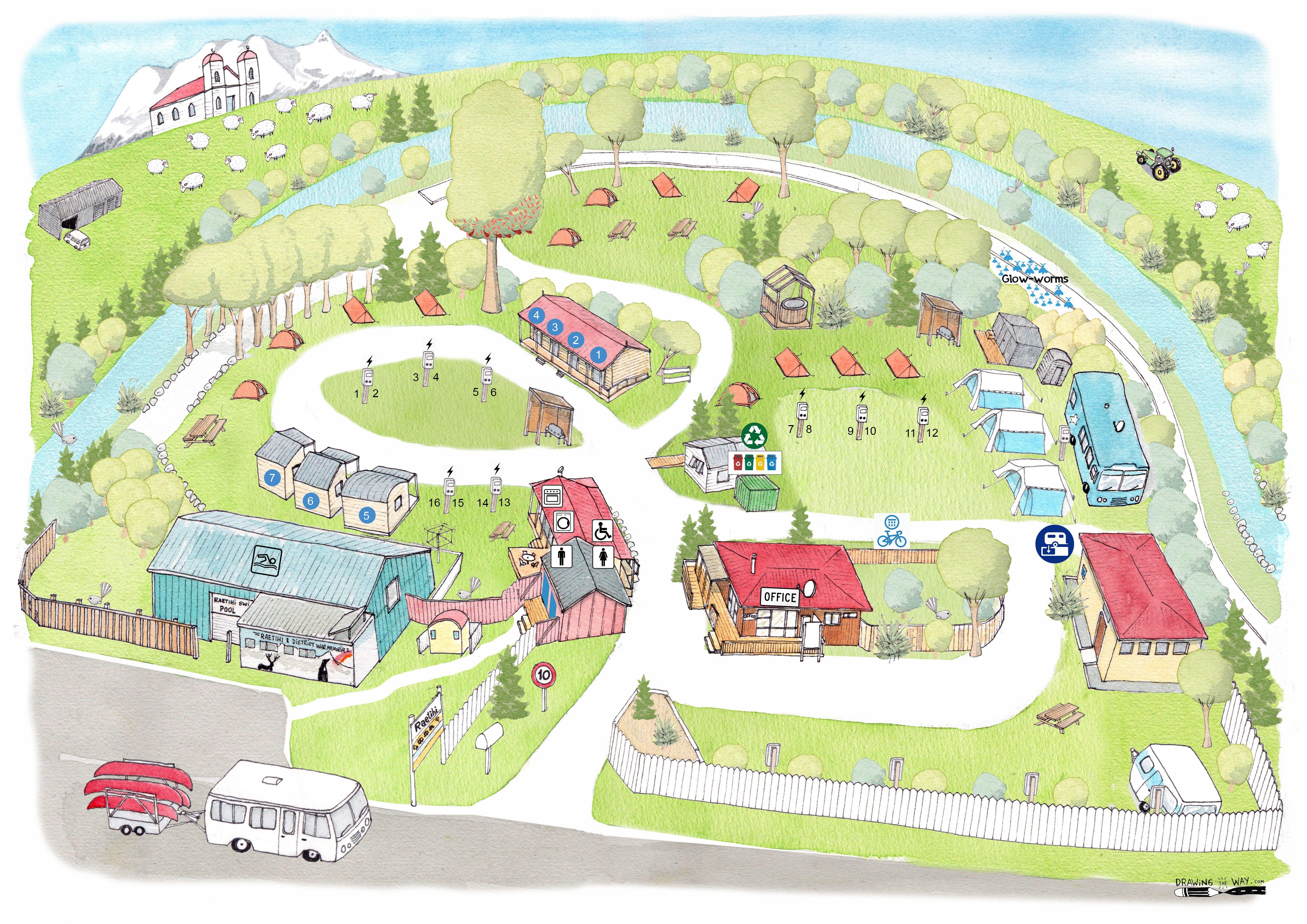 Raetihi Holiday Park map (1)